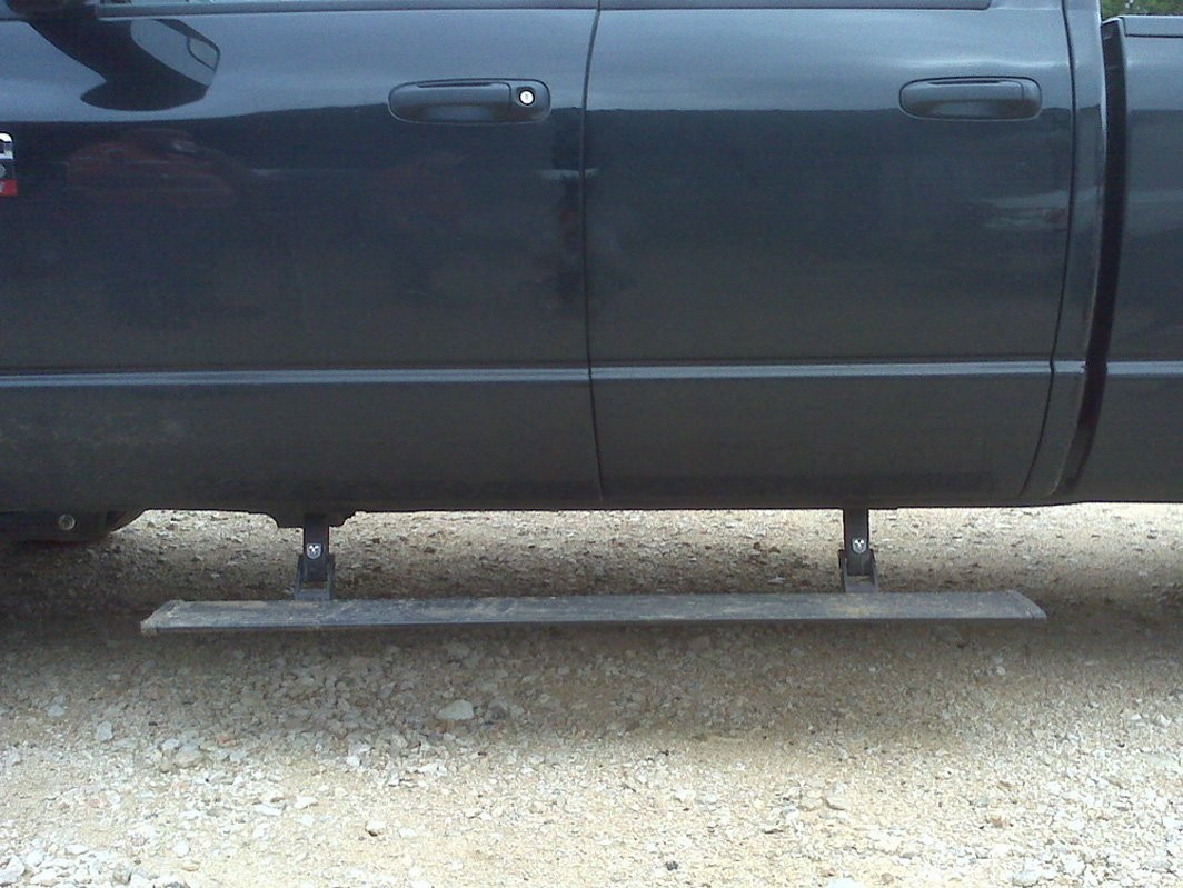 Truck with running board