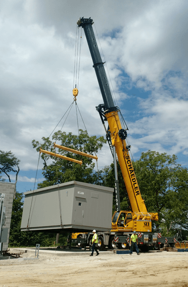 Crane at work   Toledo, OH   Schaedler Enterprises Inc.   419-727-9930