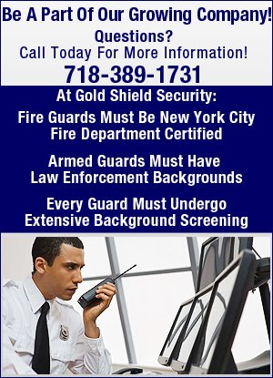 Security Guard Job - Brooklyn, NY - Gold Shield Security & Investigation, Inc.