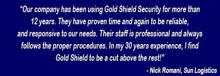 Testimonials -  Brooklyn, NY Gold Shield Security & Investigation, Inc.
