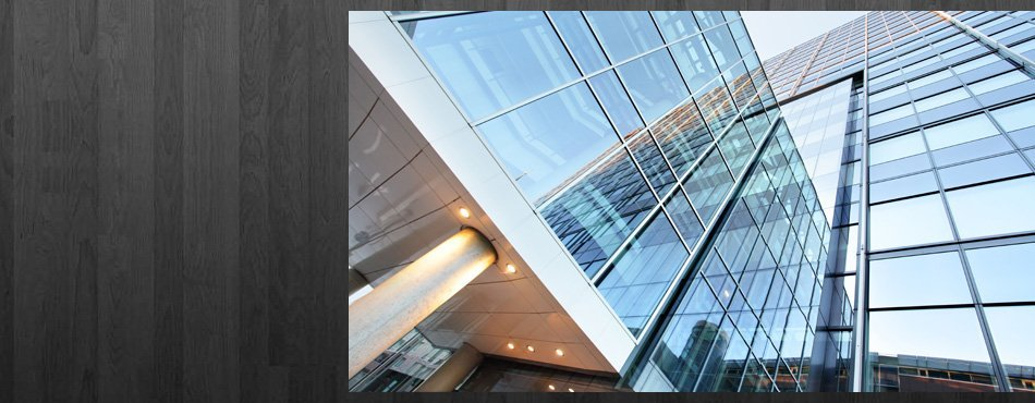 Commercial establishment with glass windows.