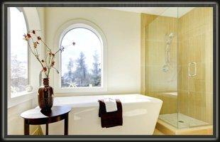 Luxurious shower room.
