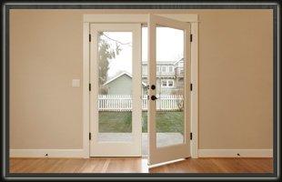Glass door.