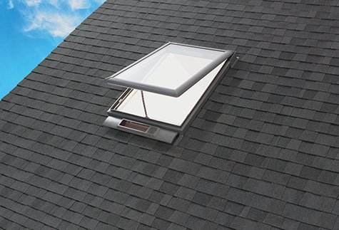 Exterior Solar Venting on Shingle Roof