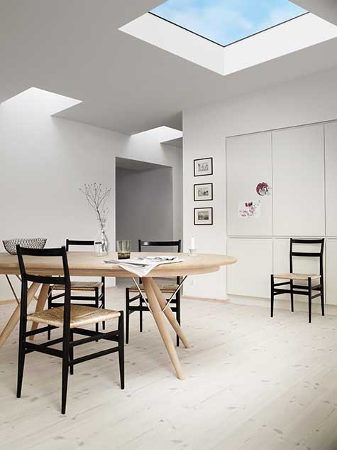 Interior Dining Room Flat Ceiling