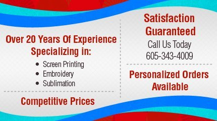 Screen Printing and Embroidery - Rapid City,  SD - Imagine That Screen Printing and Embroidery