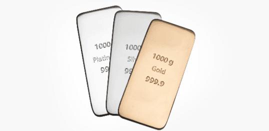 Gold silver bars