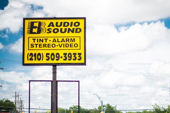 B audio sign Board
