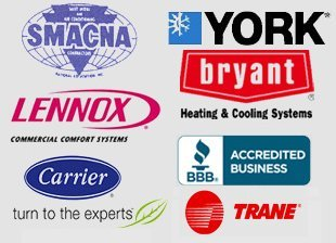Bryant, York, Lennox, Trane, Carrier, Luxaire,SMACNA, BBB