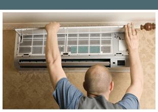 Man repairing the aircon