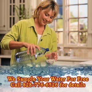 Well Pump - Weaverville, NC - Clearwater Well Drilling, Inc. - woman with purified water - We Sample Your Water For Free Call 828-776-6526 for details