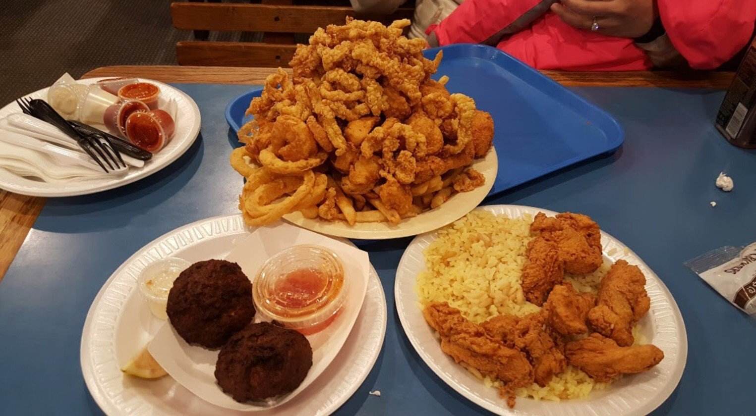 Fried seafood dishes