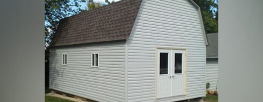 White portable shed