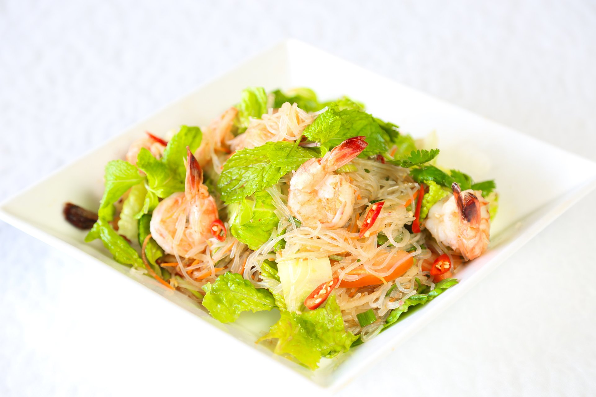 Glass Noodle Shrimp Salad