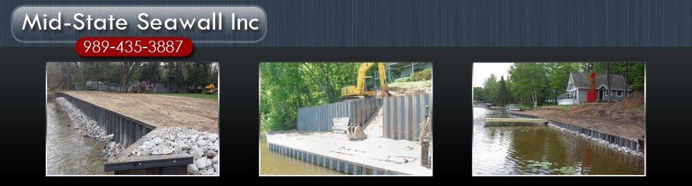Seawall Contractor - Beaverton,MI - Mid-State Seawall Inc