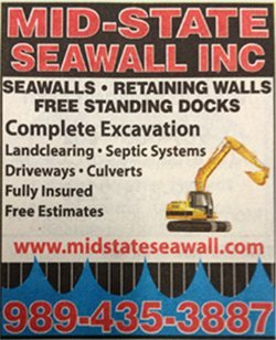 Seawall Contractor Beaverton, MI - Mid-State Seawall Inc