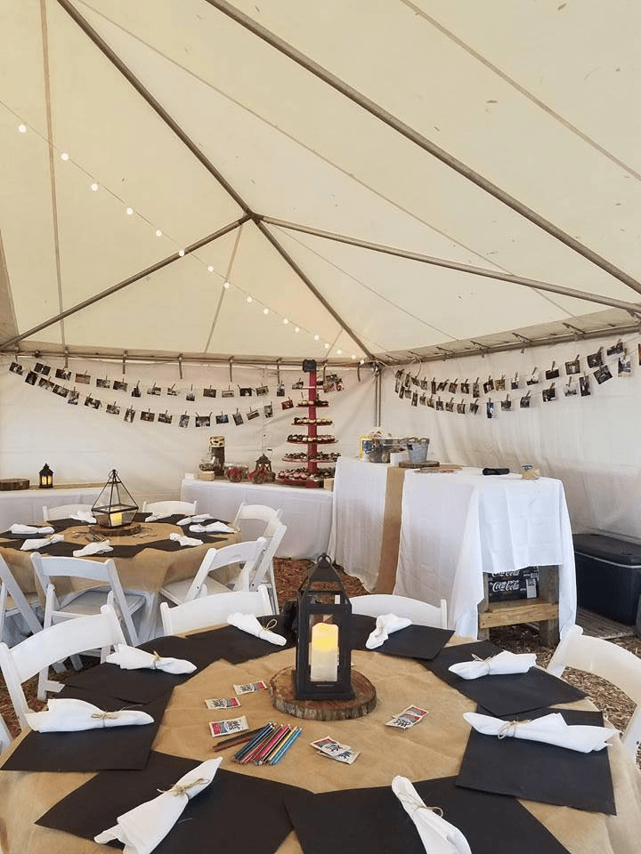Tent, Table And Chair