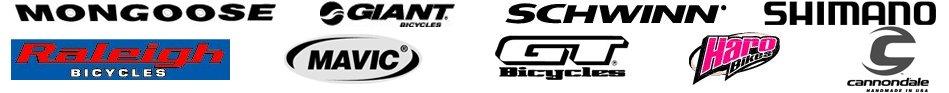 Mongoose | Giant | Schwinn | Raleigh | Haro | Cannondale | Mavic | GT | Shimano