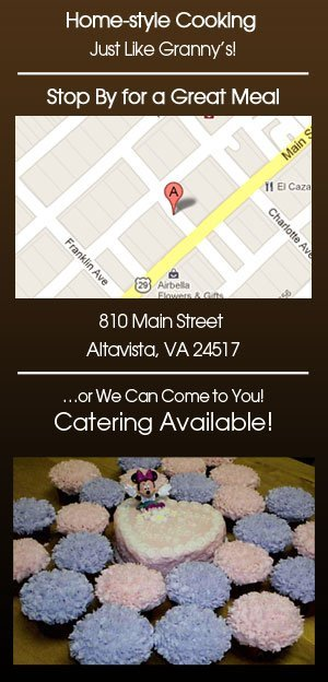 Home-style Cooking and Bakery - Altavista, VA  - Granny P's