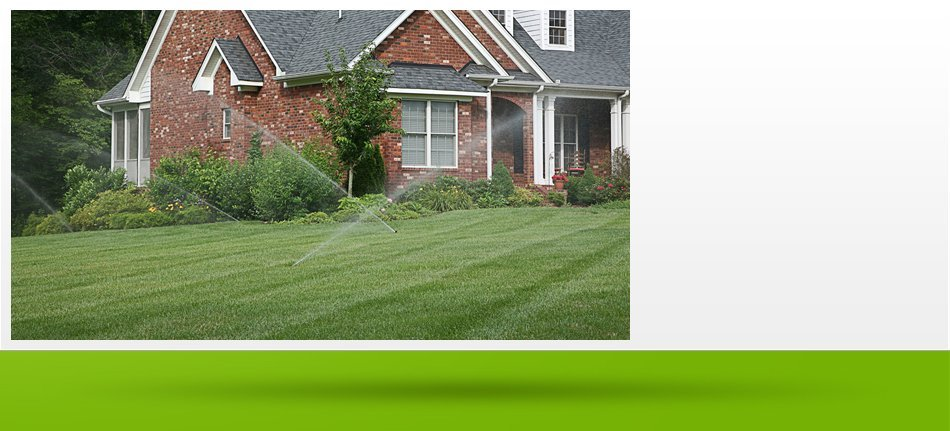 Landscaping with sprinklers
