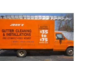 John's Gutter Cleaning truck