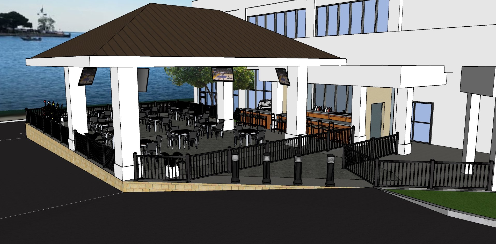 Lakeside patio bar coming summer 2019 - Wyndham garden kenosha harborside ...