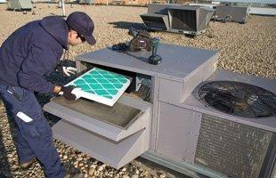 Contractor repair commercial air conditioner
