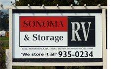 RV Storage  - Sonoma, CA - Sonoma RV Storage