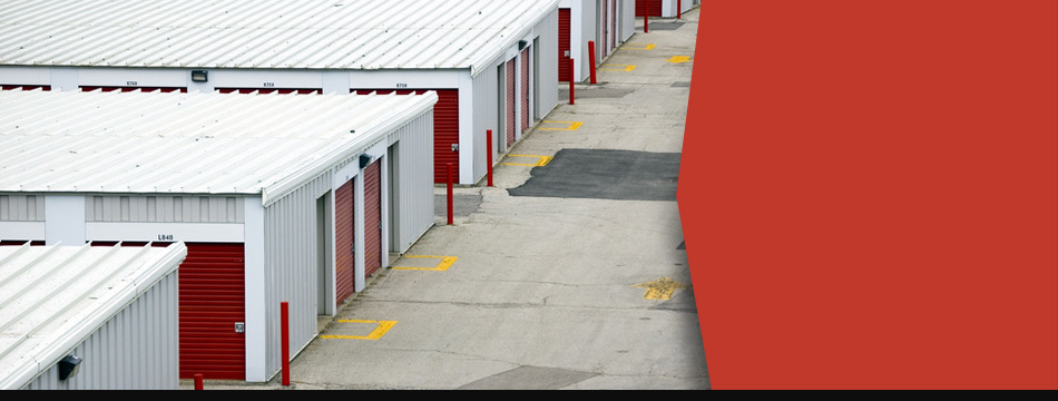 Row of fine roofs in a commercial establishment