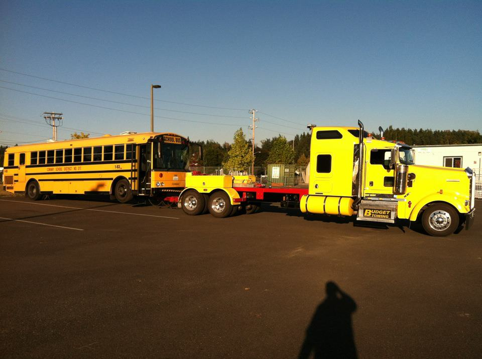 bus towing