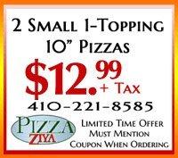 Pizza Ziya Coupons - Cambridge, MD