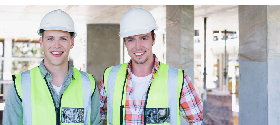 Two man working for construction