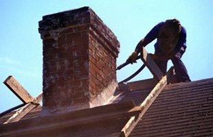 Construction of brick chimney