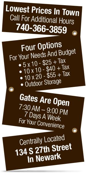 Storage Units | Secure Storage Center - Newark, OH - Budget Mini Storage