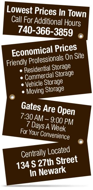 Storage Services | Outdoor Storage - Newark, OH - Budget Mini Storage