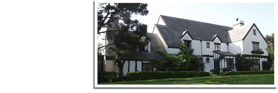 Beautiful roofing on a big house