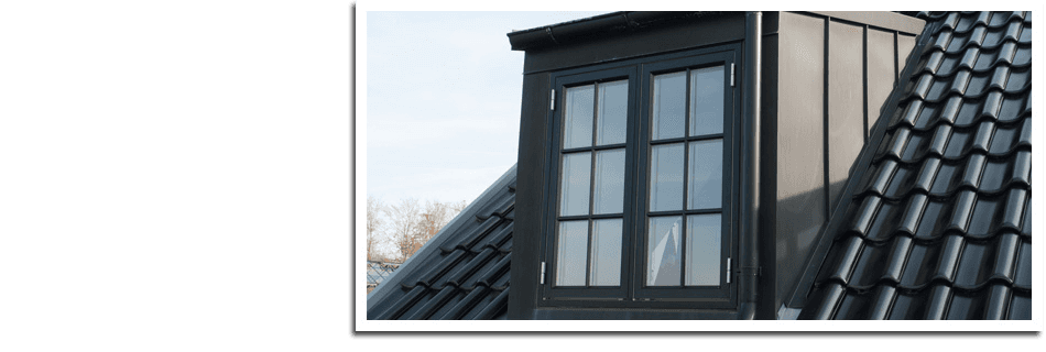 Black tiles roofing