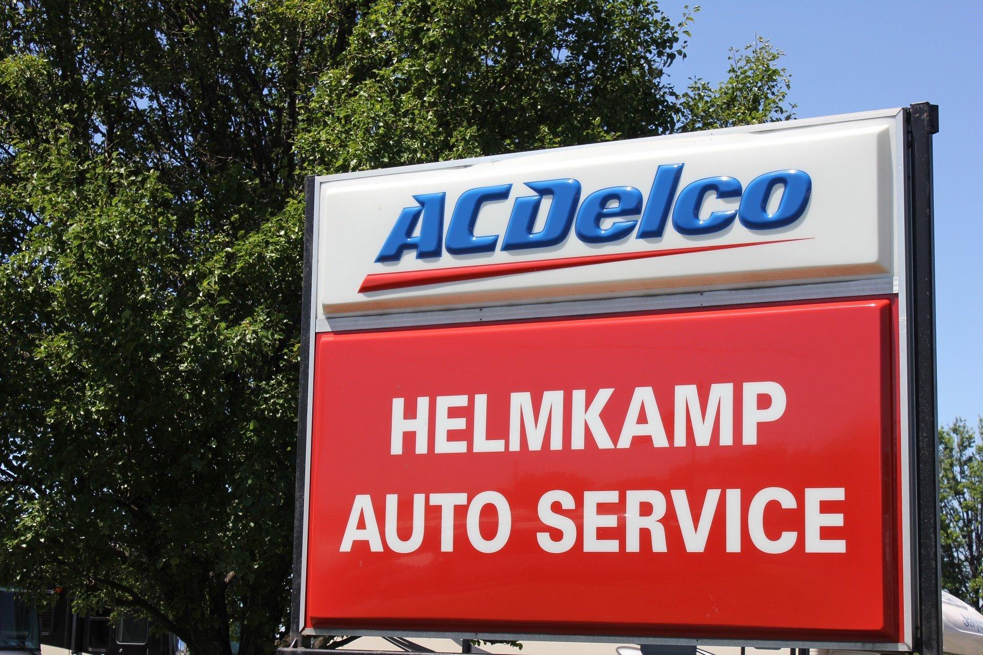 Helmkamp Auto Service Sign