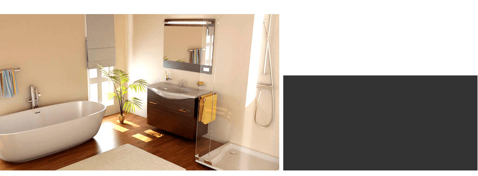 Newly remodeled neat looking bathroom
