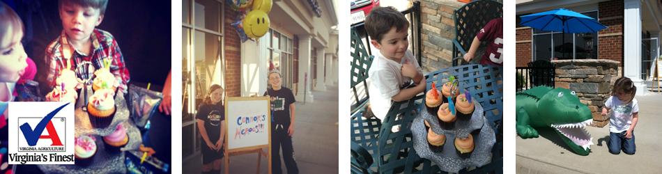 Birthday Parties | Richmond, VA | Argyle Cupcakes and Frozen Yogurt | 804-320-0312