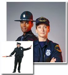 security service - Kent, OH - Metro Security & Investigations  - officers in uniform and a traffic patrol
