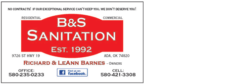 Residential Trash Removal | Roff, OK | B & S Sanitation | 580-456-7560