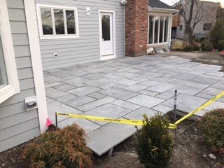 residential masonry brick patio