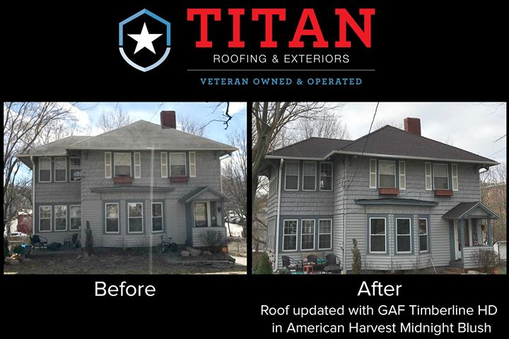 Before and after roofing services