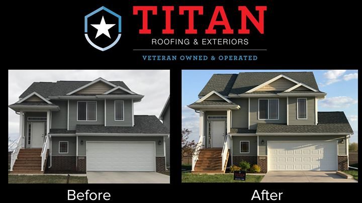Before and after roofing