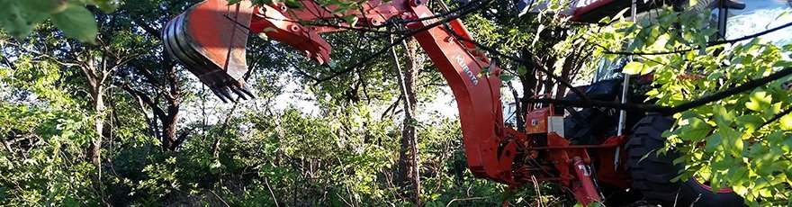 Land clearing and leveling