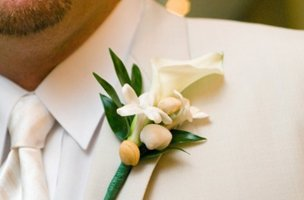 Groom with his corsage