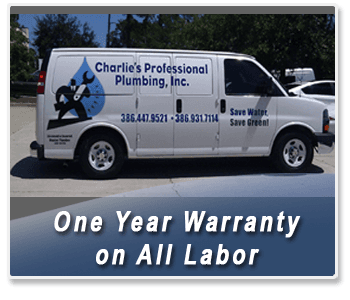 Plumber - Palm Coast, FL - Charlie's Professional Plumbing - One Year Warranty on All Labor