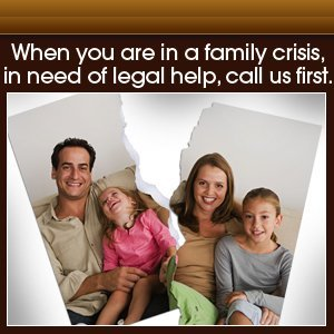 Family Law - Oklahoma City, OK - Collins Law Firm, PC - torn family photo - When you are in a family crisis, in need of legal help, call us first.