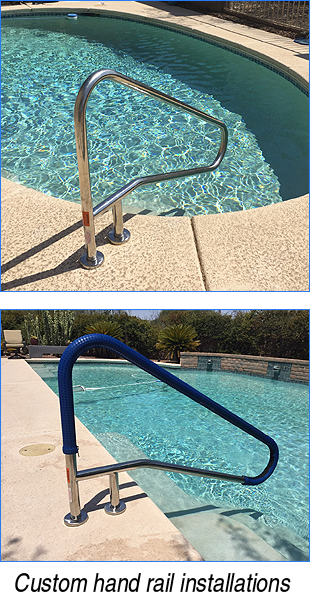 Custom hand rail installations